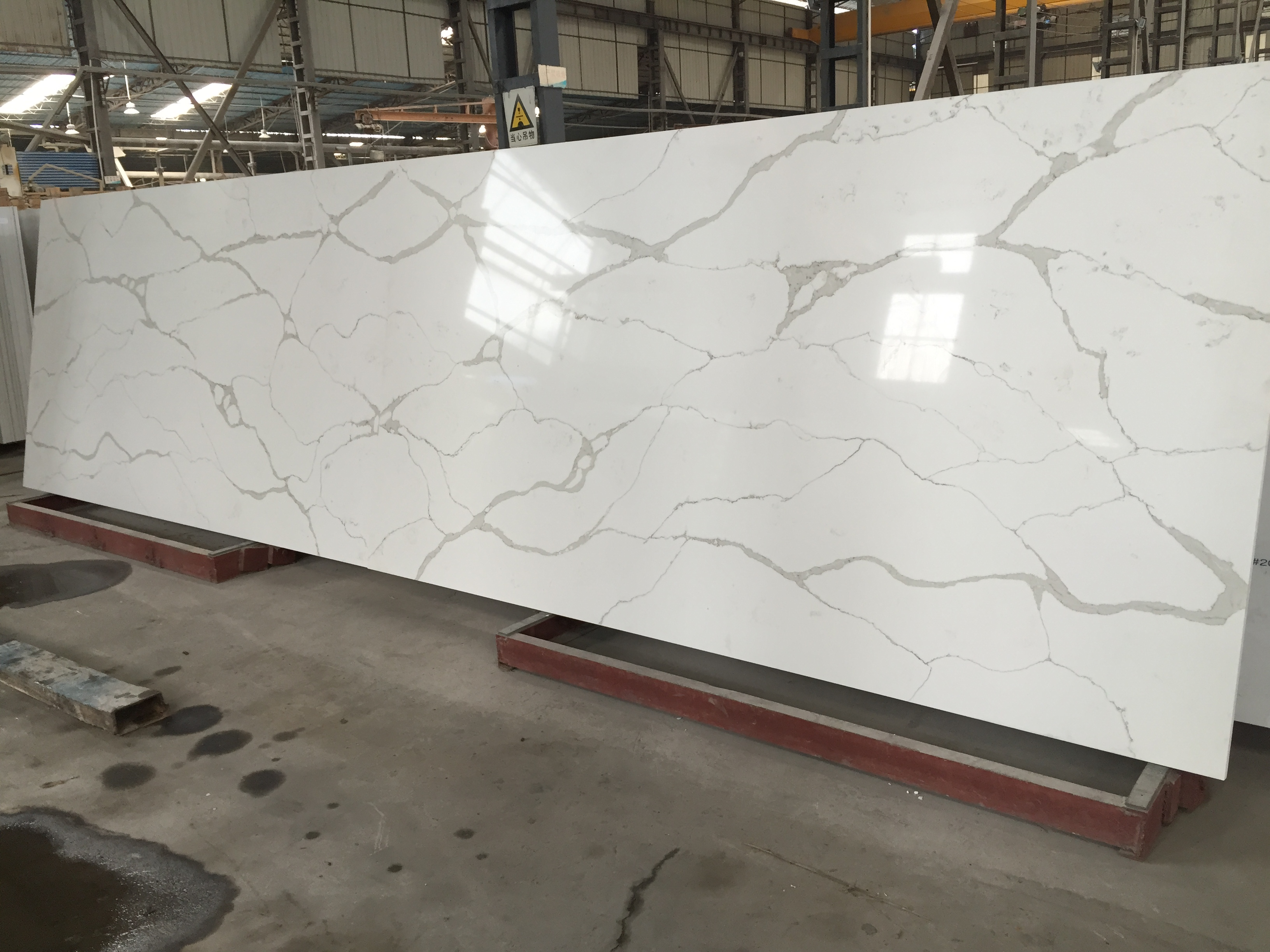 Terrastone bianco oro quartz countertops for Quartz countertops or granite