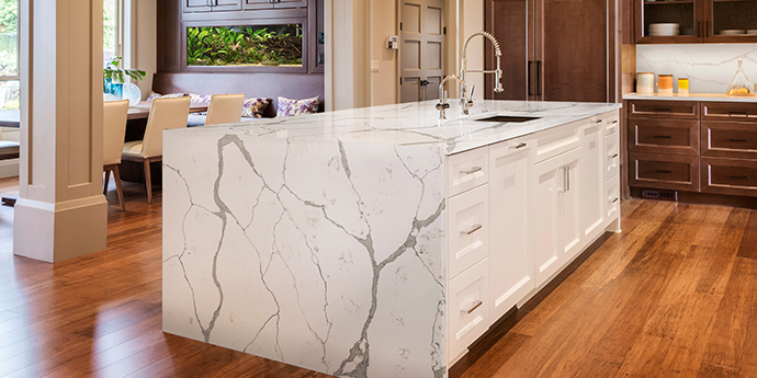 Beautiful Zodiaq Calacatta Natura Quartz Countertops