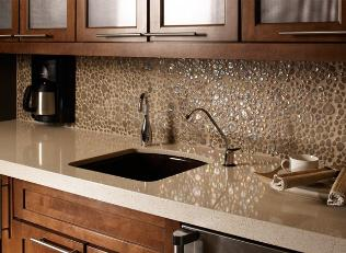 One_Quartz_Micro_Flecks_in_Cancun_Beach_on_the_countertop_with_Glass_Pebbles_in_Wheat_on_the_backsplash